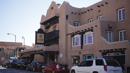 La Fonda on the Plaza is one of Santa Fe's oldest hotels and sports a new rooftop bar and restraunt, the Bell Tower. Photo by Chris Rose.