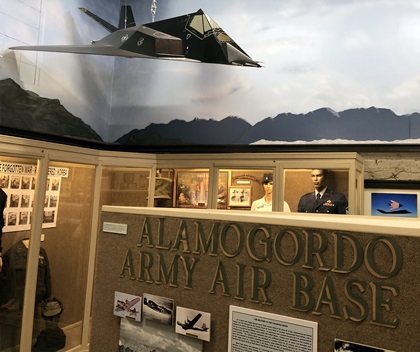 A good portion of the Tularosa Basin Museum of History focuses on the military history of the area, from the Alamogordo Army Air Base built six miles west of Alamogordo in 1941, which became Holloman Air Force Base, to the White Sands Proving Ground, which became White Sands Missile Range. Photo by MeLinda Schnyder.