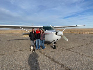 Jaden Newman and family on earning her private pilot certificate. Photo courtesy of Tanya Newman.