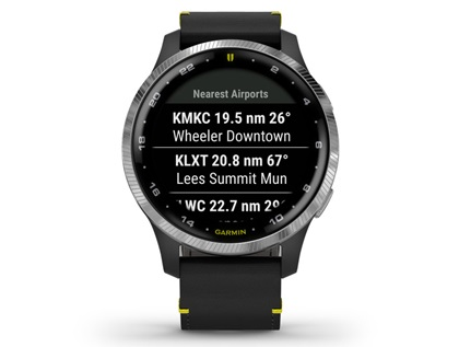 The Garmin D2 Air is customized for pilots. Image courtesy of Garmin International.