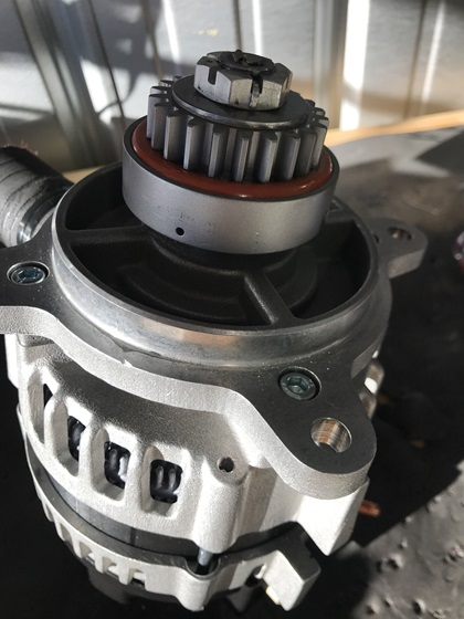 The drive coupling mounts on the alternator and protects the engine should the alternator seize. Proper installation is critical. Photo courtesy of Jeff Simon.