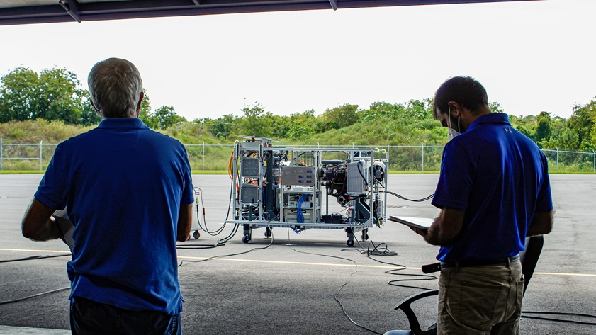VerdeGo Aero announced a successful series of preliminary tests of a hybrid-electric aviation powerplant the company hopes to scale up to an output sufficient to propel a 7,000-pound aircraft. Photo courtesy of VerdeGo Aero.