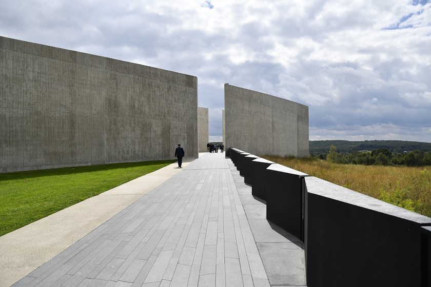 The Flight 93 National Memorial near Shanksville, Pennsylvania, honors the 40 passengers and crew of United Airlines Flight 93, including First Officer LeRoy W. Homer Jr., for their heroics in the face of a terrorist attack on September 11, 2001. Photo by David Tulis.