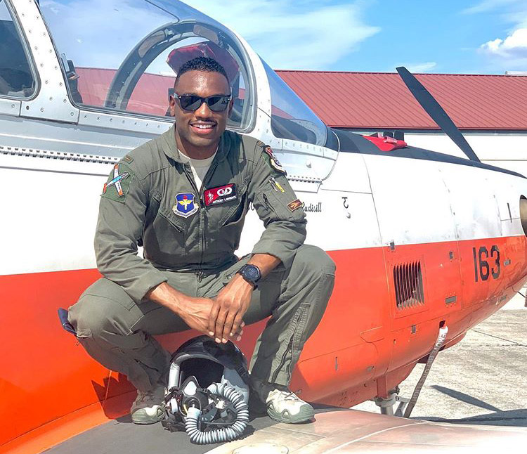2nd Lt. Anthony Lawrence's aviation journey started in childhood and has taken him to the heights of the U.S. Air Force. Photo courtesy of 2nd Lt. Anthony Lawrence.