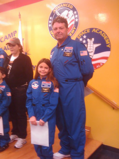 Alyssa Carson's NASA ambitions started at an early age. Photo courtesy of Bert Carson.