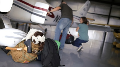 Most general aviation airplanes offer at least a modest amount of luggage space. Photo by Mike Fizer.