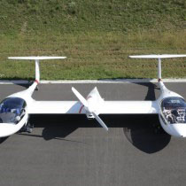 The four-seat Hy4 aircraft powered by a hybrid propulsion system includes hydrogen fuel cells and an electric motor. Photo courtesy of Modular Approach to Hybrid Electric Propulsion Architecture.