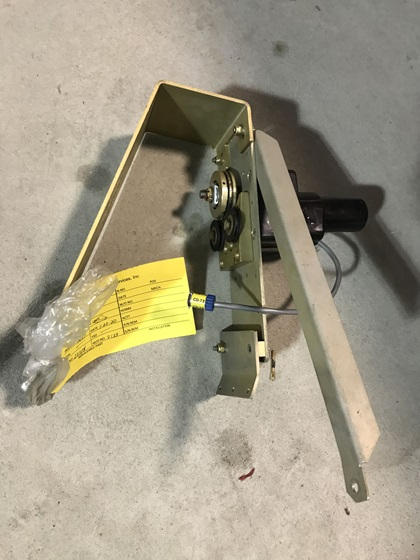 This used autopilot trim servo from Kubick Aviation Services came with tags showing its traceability and testing prior to removal. Photo courtesy of Jeff Simon.
