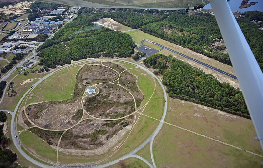 The Wright Brothers National Memorial in Kitty Hawk, North Carolina, and the adjacent First Flight Airport are bucket-list stops for aviators. Photo by David Tulis.