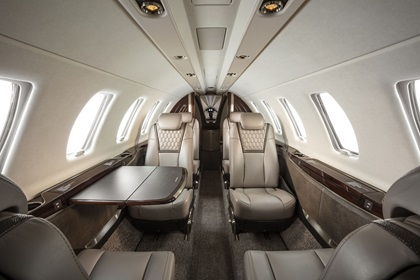 The Citation CJ4 Gen2 can seat up to 10 passengers and offers a choice of seating configurations. Photo courtesy of Textron Aviation.
