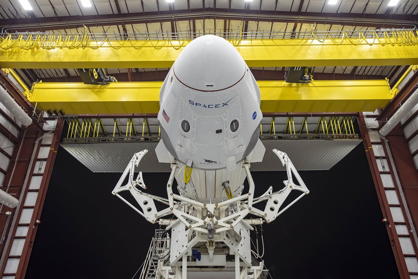 Jared Isaacman secured seats for four people aboard the next flight of the SpaceX Dragon capsule currently docked at the International Space Station. Photo courtesy of Inspiration4.