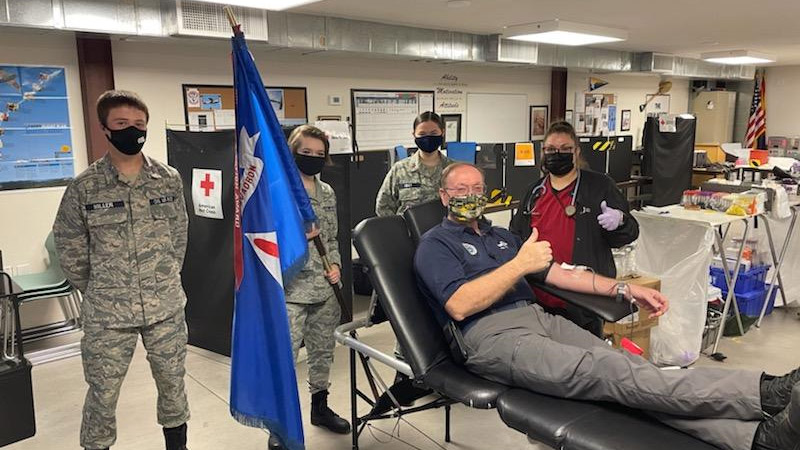 The Civil Air Patrol has risen to the top 1 percent of American Red Cross blood donation partners, the organization announced March 26. Photo courtesy of the Civil Air Patrol.