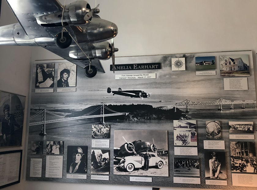 Amelia Earhart Birthplace Museum in Atchison Kansas exhibit. Photo by MeLinda Schnyder.