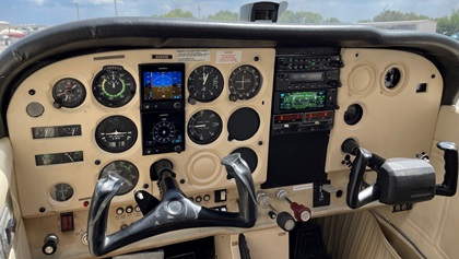 Robert Glidewell upgrades the instrument panels of Cessna 172s produced in the 1970s and 1980s with Garmin avionics. Photo courtesy of Robert Glidewell.