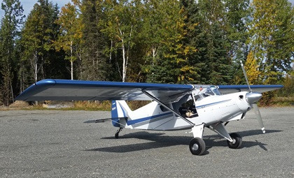The kitbuilt Bearhawk Aircraft 4-Place STOL taildragger can be flown on wheels too. Photo courtesy of Bearhawk Aircraft.