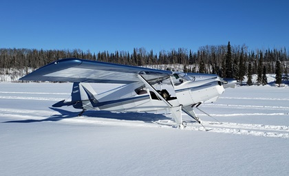 The kitbuilt Bearhawk Aircraft 4-Place STOL taildragger can now be fitted with skis for winter flying in the backcountry. Photo courtesy of Bearhawk Aircraft.