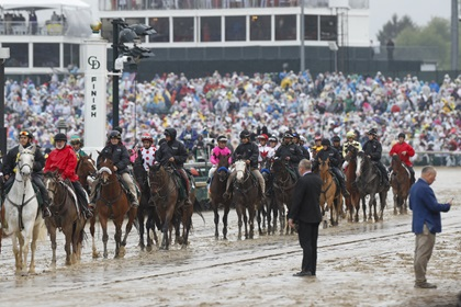 The Kentucky Derby at Churchill Downs attracts a crowd in 2019. Photo by Chris Rose.