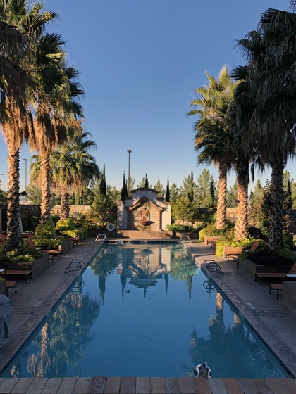 The pool at Hotel Encanto; the hotel is a great base for exploring Las Cruces. Photo by MeLinda Schnyder.