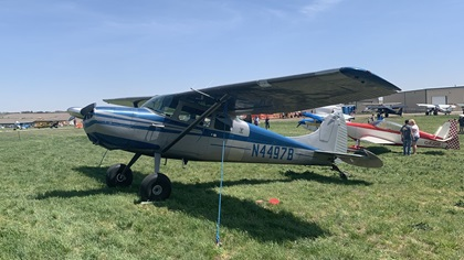 This Cessna 170B is right at home among aircraft camping or competing in the Mayday STOL Drag. Photo by Alicia Herron.