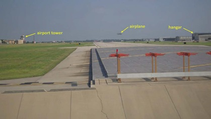 Several cameras on the ground captured views of the ill-fated flight. Image courtesy of the NTSB.