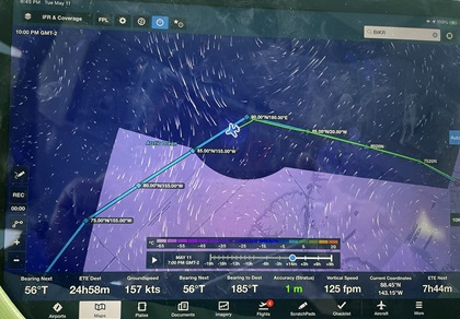 An iPad helped Adrian Eichhorn navigate across the North Pole when other systems temporarily reported erroneous magnetic information. Photo courtesy of Adrian Eichhorn.