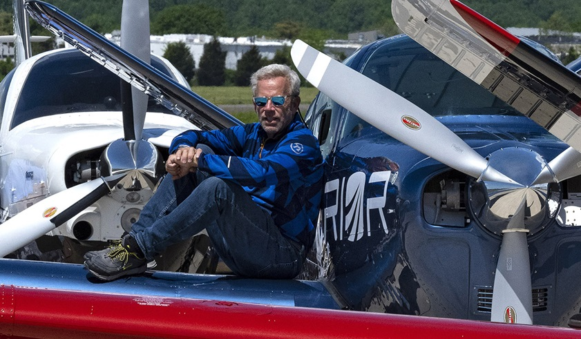 Adrian Eichhorn, who circumnavigated the globe in 2016, completed a nonstop journey across the North Pole from Iceland to Alaska in his 1962 Beechcraft Bonanza V35. Photo by David Tulis.