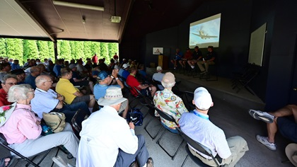 EAA AirVenture attendees participate in a low-lead fuel replacement panel discussion. Photo by David Tulis.
