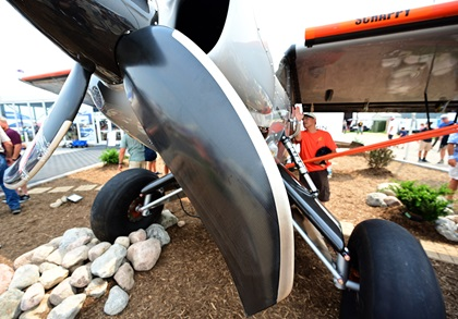 A four-blade carbon fiber propeller augments the 600-horsepower engine of 'Scrappy.' Photo by David Tulis.