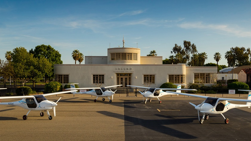 Four Pipistrel Alpha Electros imported to California in 2018 remain unavailable for flight training because of their experimental airworthiness certificates. Photo by Douglass Fletcher Sisk, courtesy of the Sustainable Aviation Project.