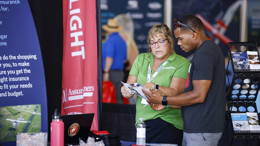 One-on-one conversations with aviation company representatives was a highlight of the Aviation Showcase.