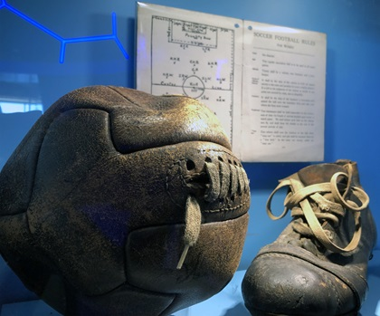 The National Soccer Hall of Fame Experience in Frisco, Texas, has more than 400 artifacts from the evolution of the sport in the United States and also features interactive games. Photo by MeLinda Schnyder.