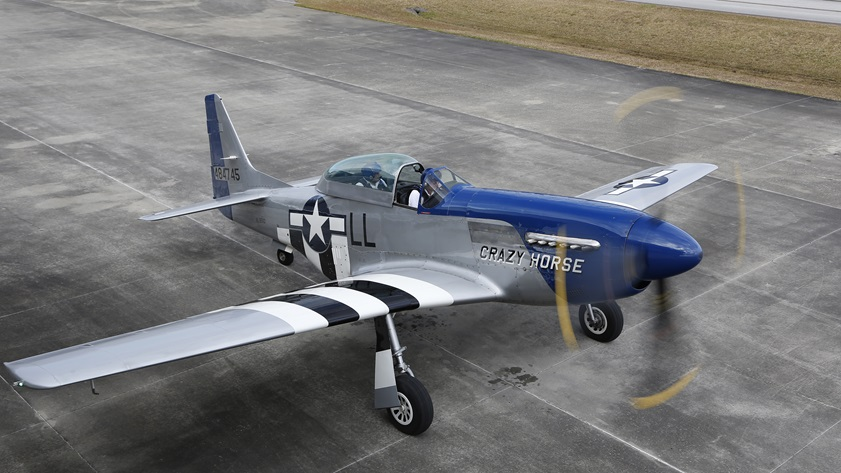 A sweepstakes fundraiser that benefits the nonprofit First Flight Society will give one lucky pilot stick time in this North American P-51 Mustang. Photo by Chris Rose.