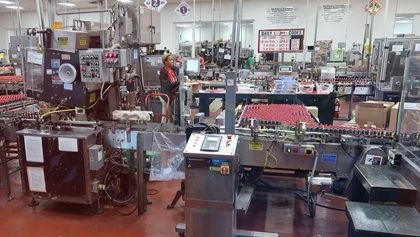 The highly automated Tabasco factory can produce over 700,000 bottles of sauce each day. Photo by Tom Snow.