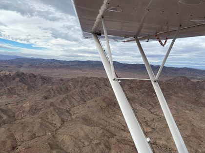 Portions of the trip proved to be desolate and unfit for an emergency landing. Photo by Jack Reynolds.