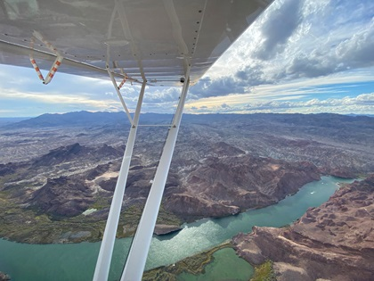 The flight included first-time views of the Colorado River. Photo by Jack Reynolds.