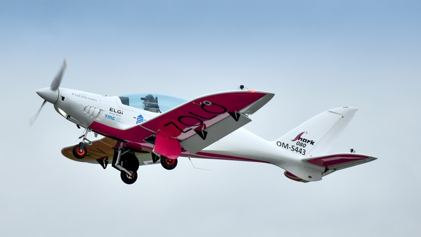 The Shark is produced in Slovakia, and its 100-horsepower Rotax 912 ULS engine burns minimal fuel while enabling the aircraft to cruise at more than 140 knots, one of the reasons Zara Rutherford chose the aircraft, even though it is VFR only, for the around-the-world mission. Photo by Jo Vlieghe, courtesy of Zara Rutherford.